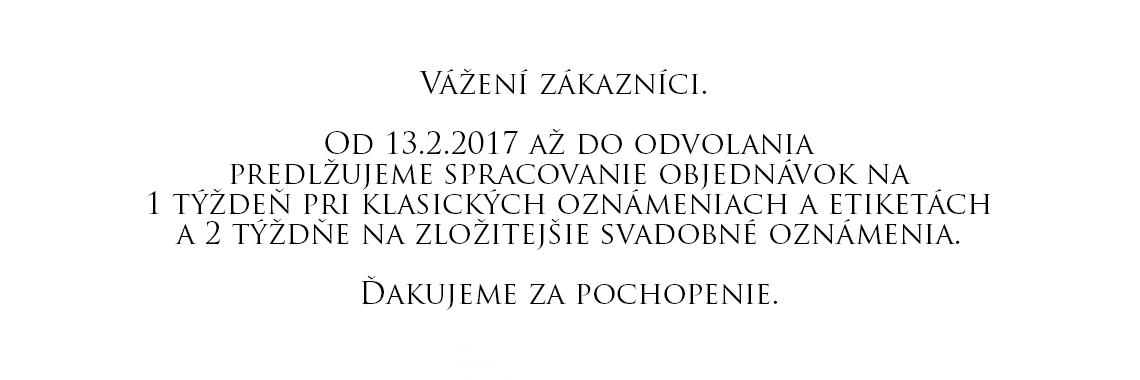 Oznam 13.2.2017