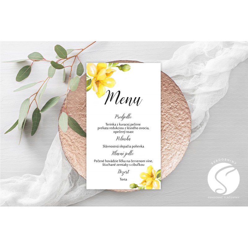 Svadobné menu - SM102