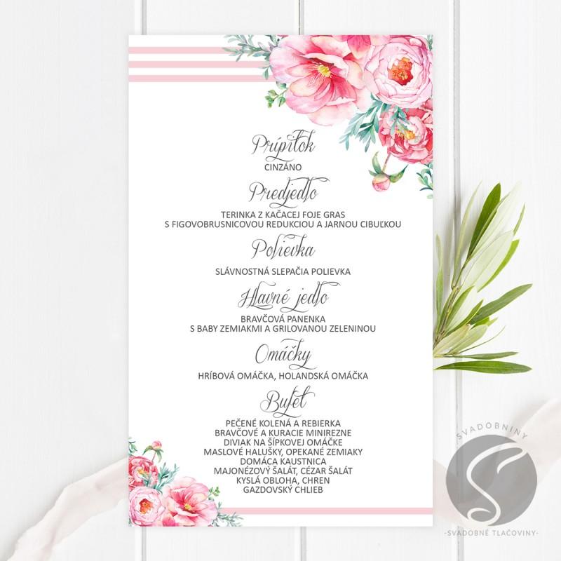 Svadobné menu - SM072
